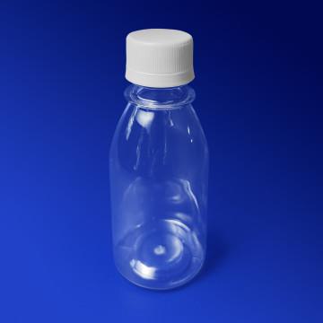 Бутылка 100 мл PET прозрачная с крышкой диаметр горловины 2,8см h11,0см диаметр дна 4,7см