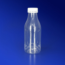 Бутылка 500мл PET прозрачная с крышкой диаметр горловины 3,5см h18,5см диаметр дна 6,7см