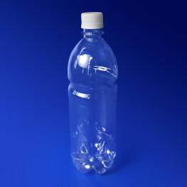 Бутылка 1000мл PET прозрачная с крышкой диаметр горловины 2,8см h26,8см диаметр дна 7,0см