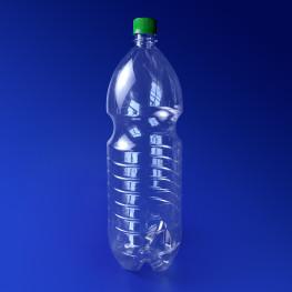 Бутылка 2000 мл PET прозрачная с крышкой диаметр горловины 2,8см h35,0см диаметр дна 9,0см