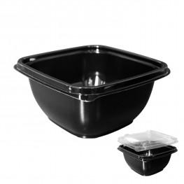 Контейнер пластиковый 500мл PP черный 12,6х12,6х6,0см Спк-1212(500)