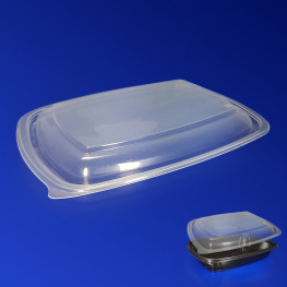 Крышка прозрачная РР к контейнеру ланч-бокс PG230-1000/700 23х17х2,3см 50шт/уп