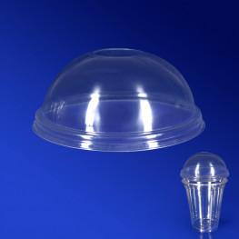 Крышка к стаканам d9,5см КУПОЛ прозрачная с отверстием 50 штук в упаковке