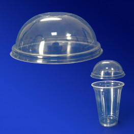 Крышка к стаканам d9,5см КУПОЛ прозрачная без отверстия 50 штук в упаковке