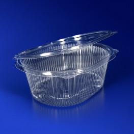 Контейнер пластиковый 500мл PET прозрачный 12,2х9,3х4,85см 400 шт/кор ПР-РКС-500 ПЭТ АВ