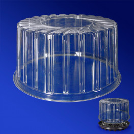 Крышка к упаковке для торта d16,5х10,2см внутр 2300мл PS прозрачная 210 штук в коробке ПР-Т-1410 К