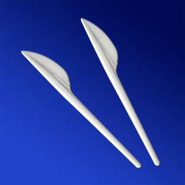 Нож белый 16,5см пластиковый Компакт 100 штук в упаковке