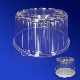 Крышка к упаковке для торта d16,4х9,4см внутр 2000мл PS прозрачная 280 штук в коробке ПР-Т165 К
