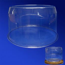 Крышка к упаковке для торта d22х12,5см внутр 4800мл ПЭТ прозрачная 110 штук в коробке