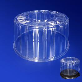 Крышка к упаковке для торта d23,6х12,2см внутр 5300мл прозрачная 160 штук в коробке