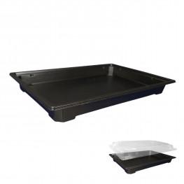 Дно к контейнеру для суши 23,3х16,1х2,5 внешн PET черное 320 шт/кор ПР-С-25Д А ПЭТ