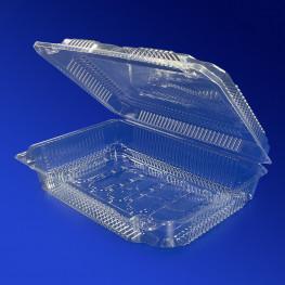 Контейнер пластиковый 1300мл PET прозрачный с нераздельной крышкой 22,0х15,2х4,0см 360 шт/кор ПР-К-30 Н (ИП) АВ ПЭТ