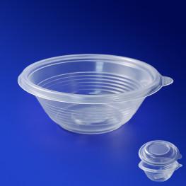 Тарелка одноразовая глубокая PP d14см 350мл прозрачная 540шт/уп