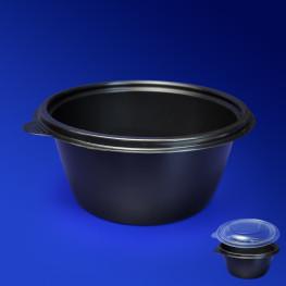 Тарелка одноразовая глубокая PP d14см 500мл черная 540шт/уп