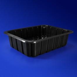 Лоток под запайку 22,7х17,8х5,0см 1500 мл PP черный 320 штук в коробке