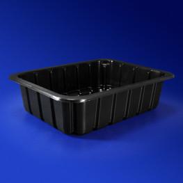 Лоток под запайку 22,7х17,8х6,0см 1800 мл PP черный 260 штук в коробке