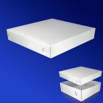 Пицца-коробка 25х25х5см бел 200шт/уп КРЫШКА