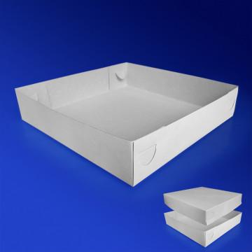 Пицца-коробка 25х25 бел 200шт/уп ДНО