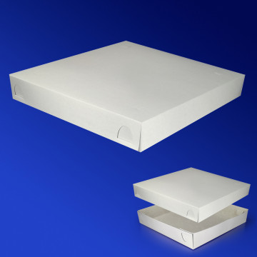 Крышка к пицца-коробке 30х30х5,5см бел 200шт/уп