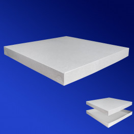 Крышка к пицца-коробке 40х40х4см бел 100шт/уп