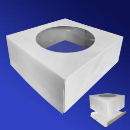 Крышка к упаковке для торта 40х40х22см бел 25шт/уп