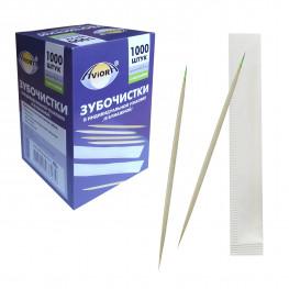 Зубочистки с мятой отдельно упакованные бум бамбук 1000шт/уп