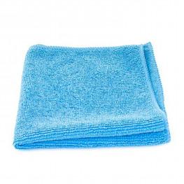 Тряпка из микрофибры 30х30см универсальная 200г/м2 голубая без упаковки
