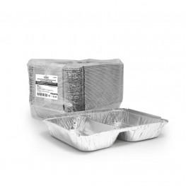Контейнер из алюм фольги 2-хсекционный 520+320мл 22,7х17,7х3,0см
