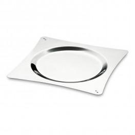 Блюдо Oriente Cristal Swarovski d32см для сервировки стола стальное