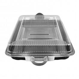 Контейнер для суши большого сета PS/PVC 40,5х27,7х7,2см с крышкой 100 шт/кор