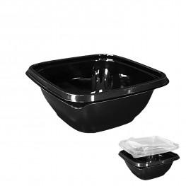 Контейнер пластиковый 375мл PET черный 12,6х12,6х5,1см Спк-1212(375)