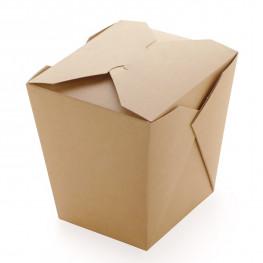 Упаковка для лапши крафт/ламинир 10х10х10,5см 700мл склеенная ECO NOODLES 700