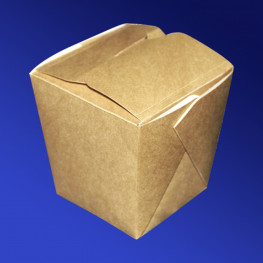 Упаковка для лапши крафт/ламинир 9х9х10см 560мл склеенная ECO NOODLES 560