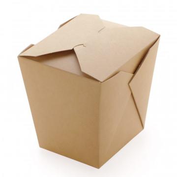 Упаковка для лапши крафт-ламинированный В коробке 420 штук