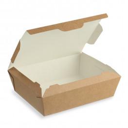 Ланч-бокс крафт/ламин 15х11,5х5см 600мл с крышкой ECO LUNCH 600