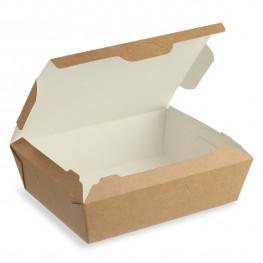 Ланч-бокс крафт/ламин 19х15х5см 1000мл с крышкой ECO LUNCH 1000
