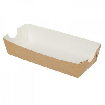 Упаковка для хот-догов/фри крафт/ламинир 16,5х7х4см ECO HD