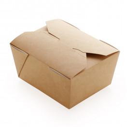 Упаковка для лапши крафт/ламинир 11х9х6,5см 600мл Eco Fold Box