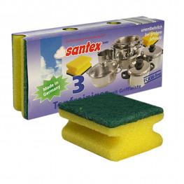 Губка для посуды 3шт/уп Santex