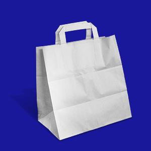 Пакет-сумка бумажная прочная 25х26+17см