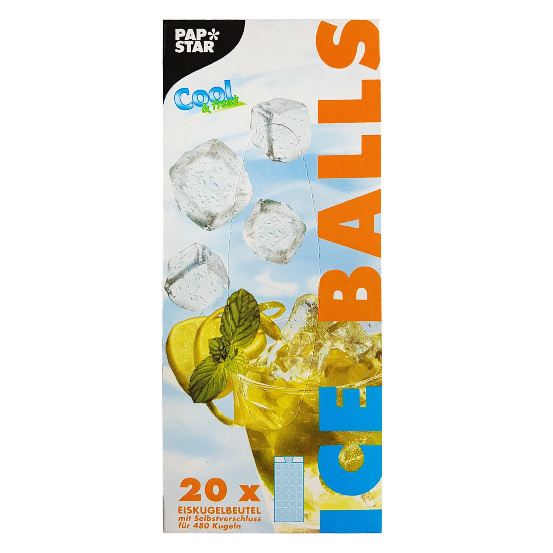 Пакет для ледяных кубиков 18х34,5см 20пакетов/480кубиков