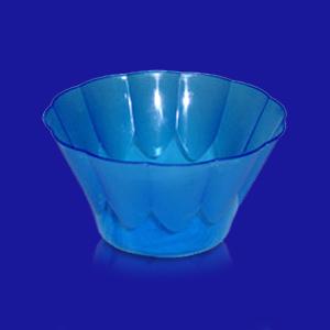 Креманка пластиковая 400мл d12х7см голубая 54шт/уп