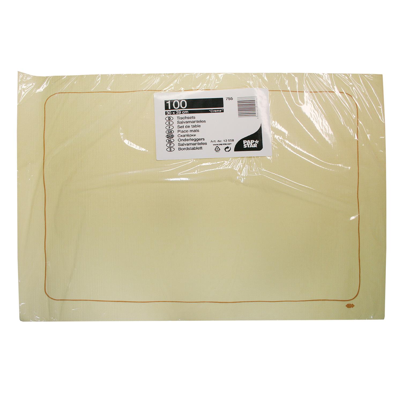 Скатерть  салфетка для стола 40х30см кремовая 100шт/уп