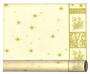 Скатерть  салфетка для стола Рай рулон 3м х40см кремовая