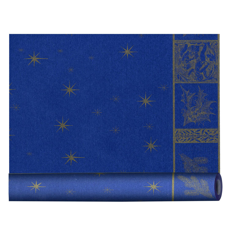 Скатерть  салфетка для стола Рай рулон 3м х40см синяя