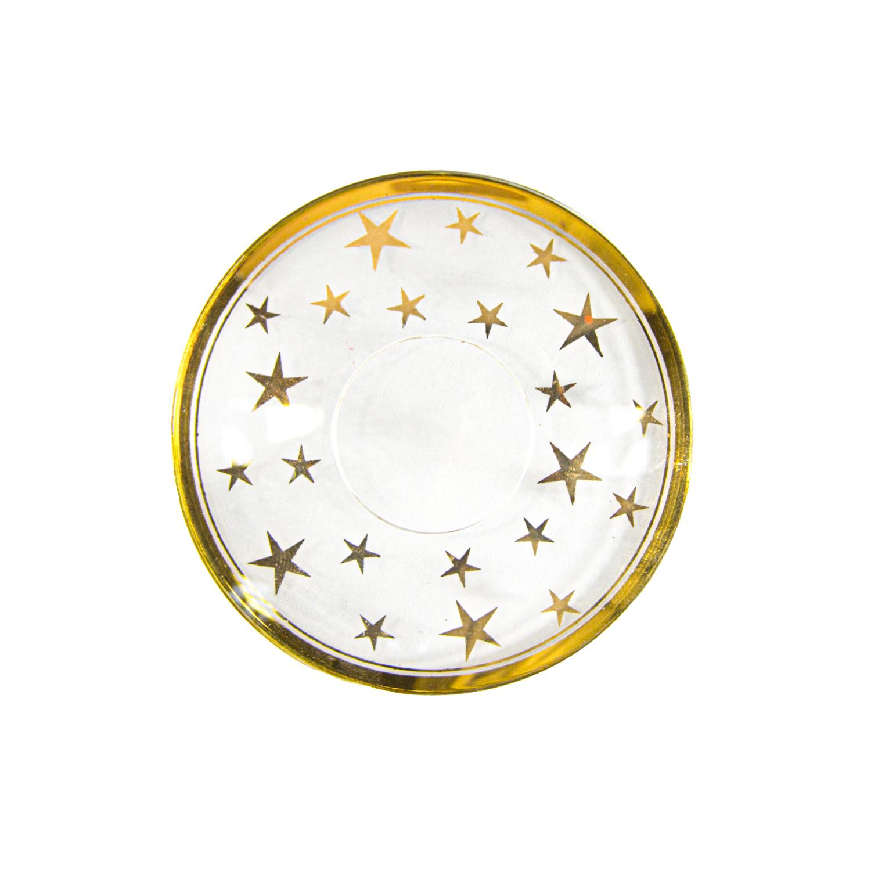 Манжета на свечу  d7см наруж стеклянная  с узором Звезды 1шт/уп