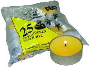 Свечи чайные  d4,0см  h1,4см   25шт/уп желтая