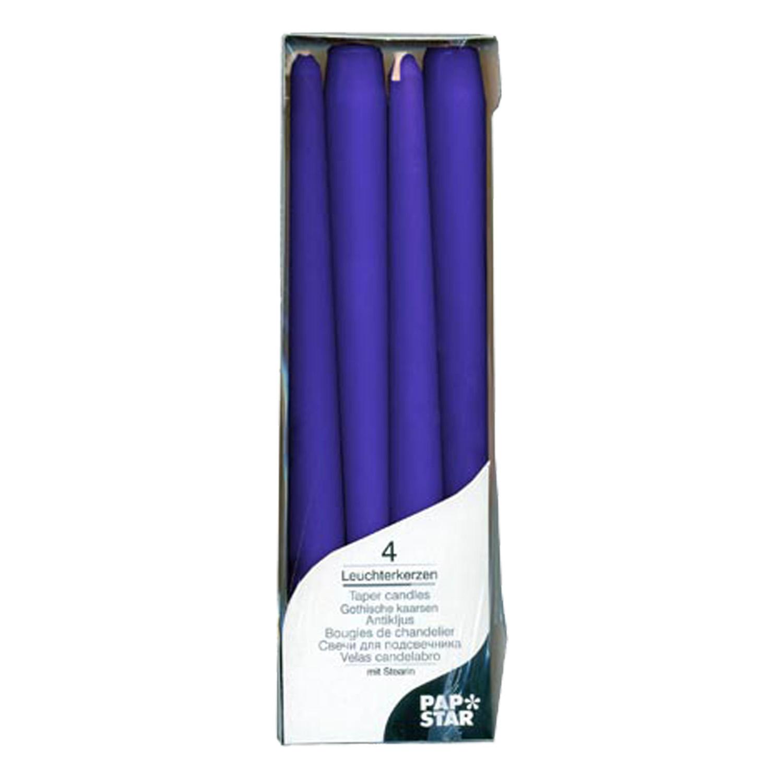 Свеча Античная   d2х25см синяя 4шт/уп