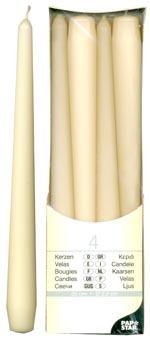 Свеча Античная   d2х25см белая 4шт/уп