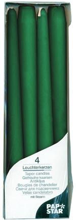 Свеча Античная   d2х25см зеленая 4шт/уп
